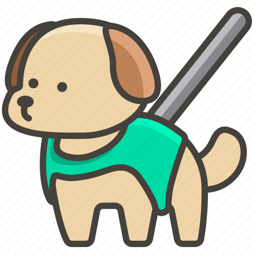 1f9ae, dog, guide icon