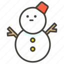 snow, snowman, without