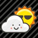 26c5, a, behind, cloud, sun icon
