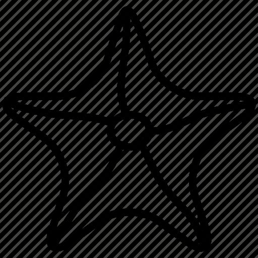 creature, invertebrate, mollusk, sealife, starfish icon