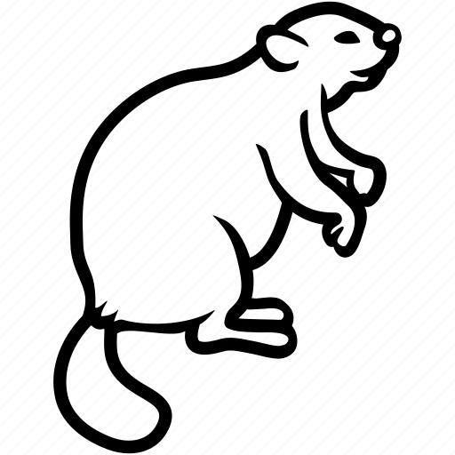 beaver, creature, rodent, sylvan icon