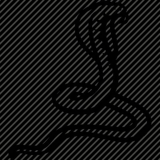 cobra, ophidian, serpent, snake, viper icon