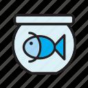 animal, pet, bowl, fish, fishtank, goldfish, tank