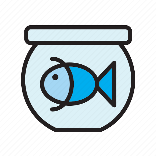 animal, bowl, fish, fishtank, goldfish, pet, tank icon