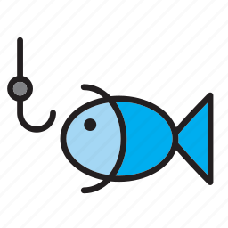 animal, fish, fishing, hook icon