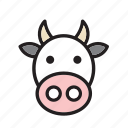 animal, cow, farm