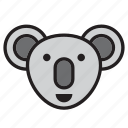 animal, australia, face, koala icon