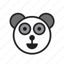 animal, bear, china, face, panda icon