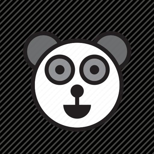 animal, bear, china, face, panda icon