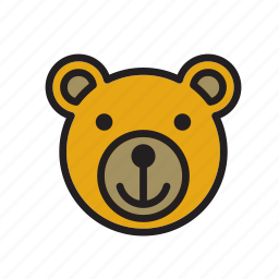 animal, bear, face icon