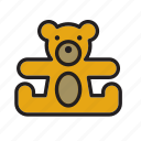 animal, bear, cuddly, stuffed, teddy, teddybear, toy icon