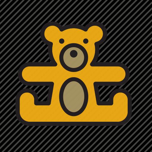 animal, bear, cuddly, stuffed, teddy, teddybear, toy icon