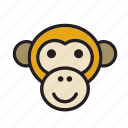 africa, animal, ape, chimpanzee, face, monkey, zoo icon