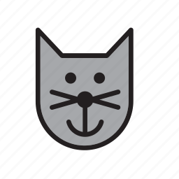 animal, cat, face, pet icon