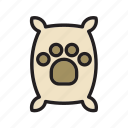 animal, bag, dog, footprint, pet, sack, tread icon