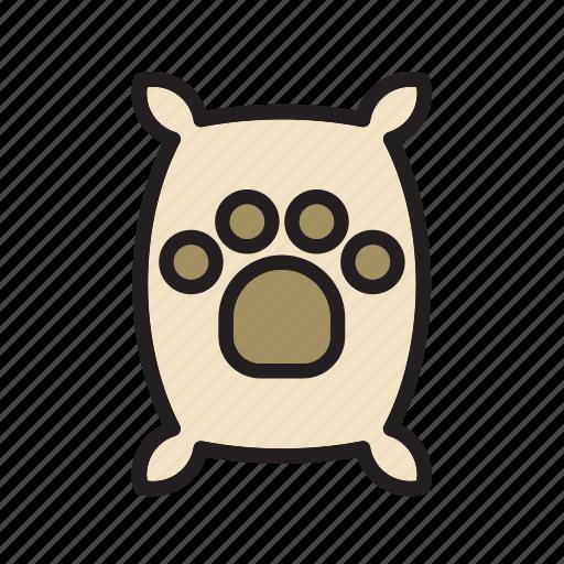 animal, bag, dog, footprint, pet, sack, tread icon
