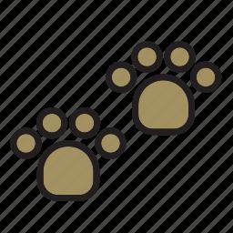 animal, dog, footprint, pet, tread icon