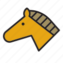 animal, face, horse icon