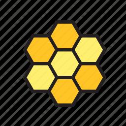 animal, bee, beehive, hexagon, pattern icon