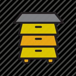 animal, bee, beehive, farm, house icon