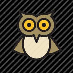 animal, bird, owl icon