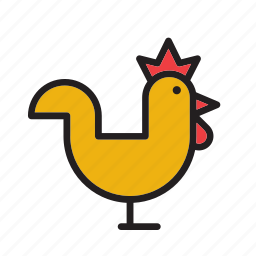 animal, chicken, cock, farm, hen, rooster icon