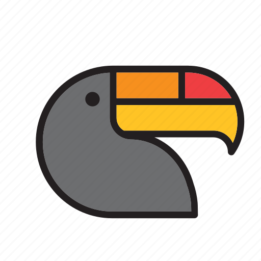 animal, bird, brazil, toucan icon