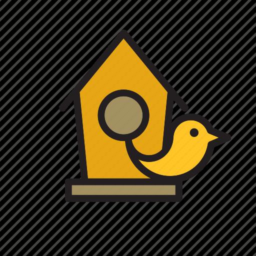animal, bird, birdhouse, house icon