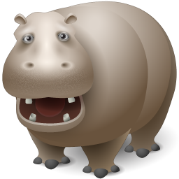 animal, hippo icon