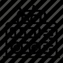 isolated, radio, thin, vector, yul920 icon