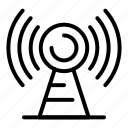 antenna, isolated, thin, vector, yul920 icon
