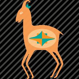 animal, animals, antelope, deer, nature, pet, wild icon