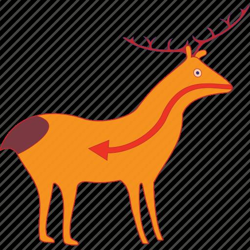 animal, antelope, art, buck, clipart, deer, mammals icon