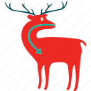 animal, antelope, art, buck, clipart, deer, mammals icon