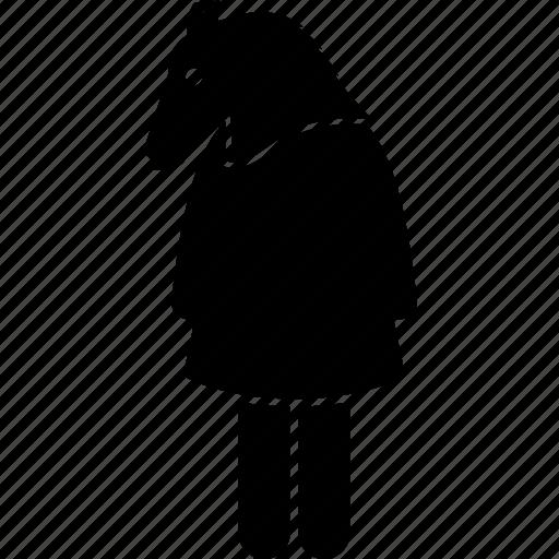animal, anthropomorphic, face, female, head, horse, human icon