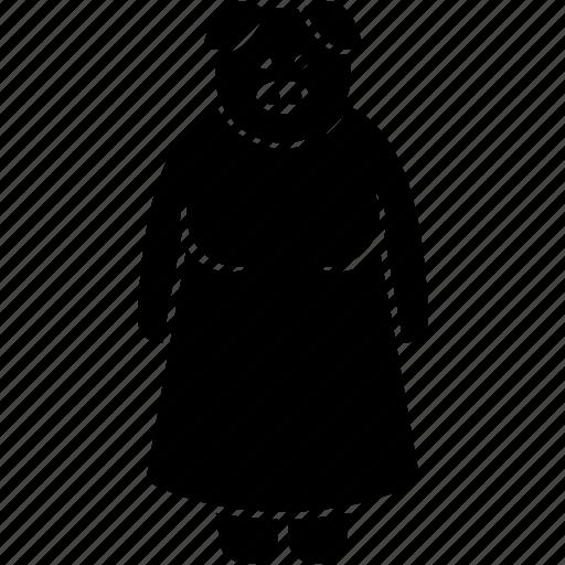 animal, anthropomorphic, face, female, head, human, pig icon