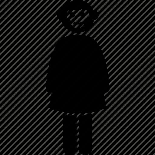 Head, monkey, animal, face, female, human, ape icon