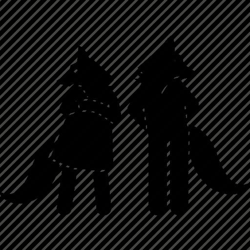 animal, anthropomorphic, couple, face, fox, head, human icon