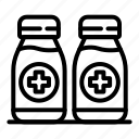 antiseptic, cream, thin, vector, yul971 icon