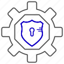 lock, management, password, shield icon