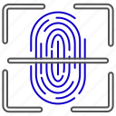 fingerprint, id, identification, profile, scan, scanner icon