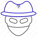 haker, hat, spy, theft icon