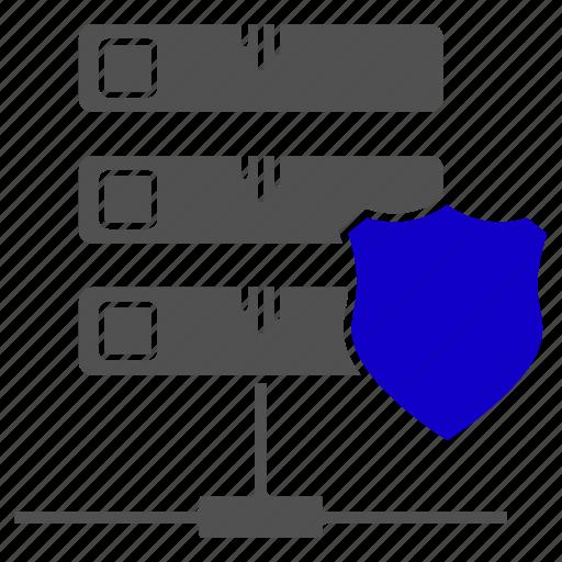 database, protection, security, server, storage icon