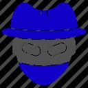 haker, hat, spy, theft icon