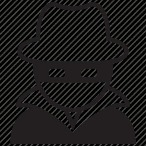 black hat, crime, cyber, hacker, thef, thief icon