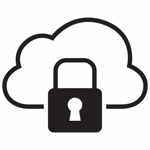 cloud, data, lock, protection, security, storage icon