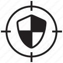 protection, safety, secure, security, shield, target icon