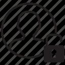 account, avatar, man, person, profile, unlocked, user icon