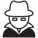 crime, cyber, hack, hacker, spy, white hat icon