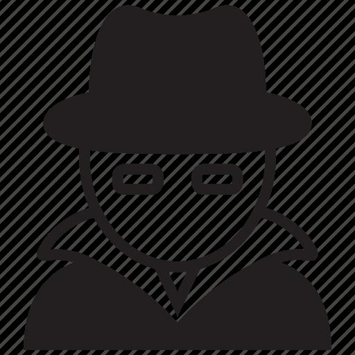 cyber, hacker, internet, spy, technology, white hat icon